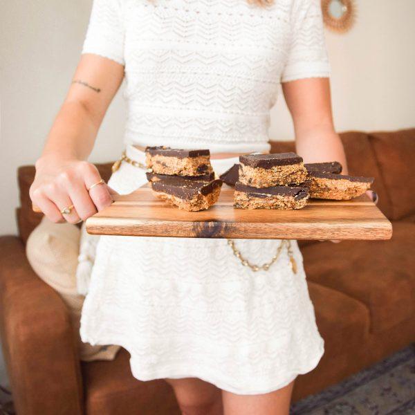 Vegan cookie dough bars