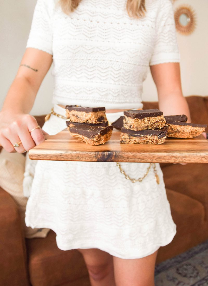 Vegan cookie dough bars